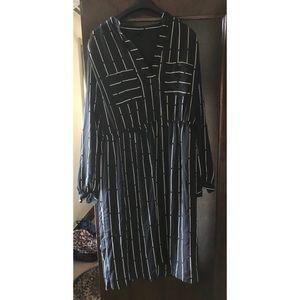 Who what wear Target work striped midi dress XL